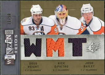 2009/10 Upper Deck SPx Winning Trios #WTNYI Doug Weight Josh Bailey Rick DiPietro 11/50