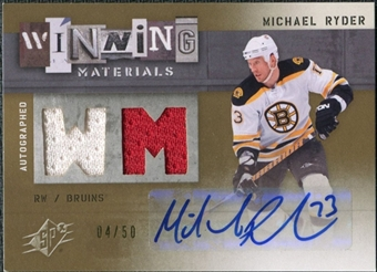 2009/10 Upper Deck SPx Winning Materials Autographs #AWMRY Michael Ryder Autograph /50
