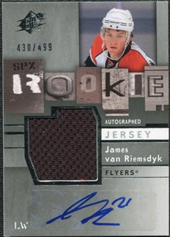 2009/10 Upper Deck SPx #179 James van Riemsdyk RC Jersey Autograph /499