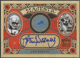 2010 Crown Royale Majestic #20 Lem Barney Auto #08/10
