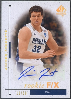 2011/12 SP Authentic #87 Jimmer Fredette FX Rookie Auto #11/50