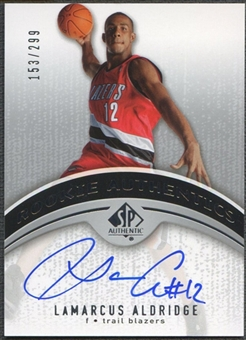 2006/07 SP Authentic #124 LaMarcus Aldridge Rookie Auto #153/299