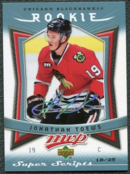 2007/08 Upper Deck MVP Super Script #351 Jonathan Toews RC 18/25