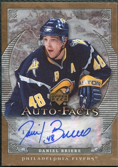 2007/08 Upper Deck Artifacts Autofacts #AFDB Daniel Briere Autograph