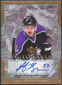2007/08 Upper Deck Artifacts Autofacts #AFDU Dustin Brown Autograph