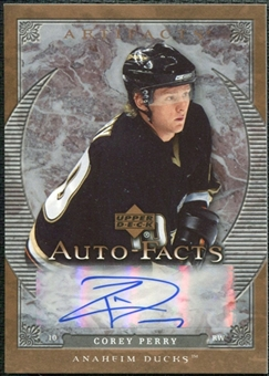 2007/08 Upper Deck Artifacts Autofacts #AFPE Corey Perry Autograph