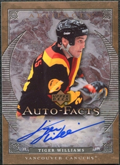 2007/08 Upper Deck Artifacts Autofacts #AFTW Tiger Williams Autograph