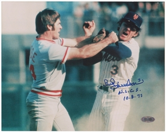 Bud Harrelson Autographed New York Mets 8x10 Photo (Steiner COA)