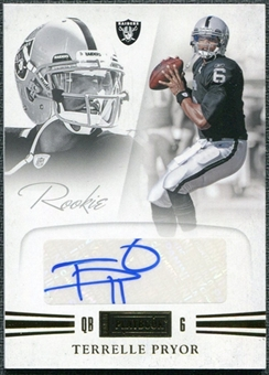 2011 Panini Playbook Gold #88 Terrelle Pryor RC Autograph /49