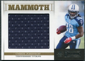 2011 Panini Playbook Mammoth Materials #50 Chris Johnson /99