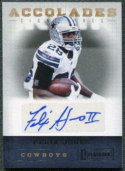 2011 Panini Playbook Accolades Signatures #64 Felix Jones Autograph /49