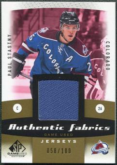 2010/11 Upper Deck SP Game Used Authentic Fabrics Gold #AFPS Paul Stastny /100