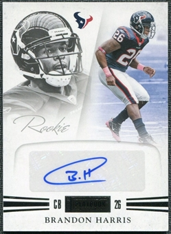 2011 Panini Playbook #56 Brandon Harris RC Autograph /299