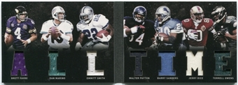 2011 Panini Playbook Material Playbook #6 Favre Marino Emmitt Smith Payton Barry Sanders Rice Owens /49