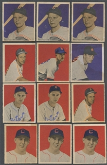 1949 Bowman Baseball Lot of 38 Cards (18 Different) EX