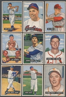 1951 Bowman Baseball Starter Set (66 Different) EX