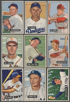 1951 Bowman Baseball Lot of 43 Cards (36 Different) VG