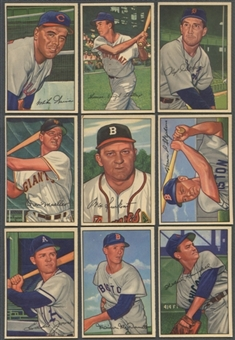 1952 Bowman Baseball Starter Set (61 Different) EX