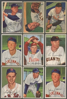 1952 Bowman Baseball Lot of 38 Cards (23 Different) VG