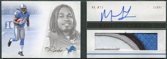 2011 Panini Playbook Gold #126 Mikel Leshoure RC Jersey Autograph /49