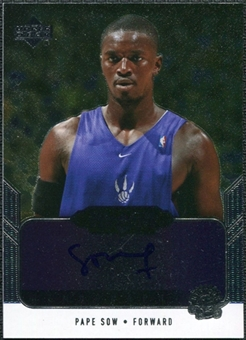 2004/05 Upper Deck Black Diamond GemoGRAPHy #PS Pape Sow Autograph