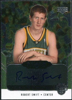 2004/05 Upper Deck Black Diamond GemoGRAPHy #RS Robert Swift Autograph