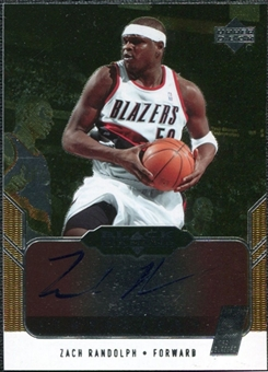2004/05 Upper Deck Black Diamond GemoGRAPHy #ZR Zach Randolph Autograph