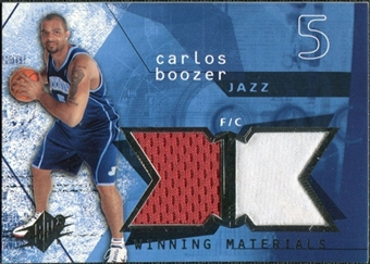 2004/05 Upper Deck SPx Winning Materials #CB Carlos Boozer