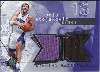 2004/05 Upper Deck SPx Winning Materials #PS Peja Stojakovic