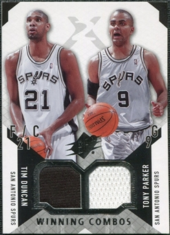 2004/05 Upper Deck SPx Winning Materials Combos #DP Tim Duncan/Tony Parker