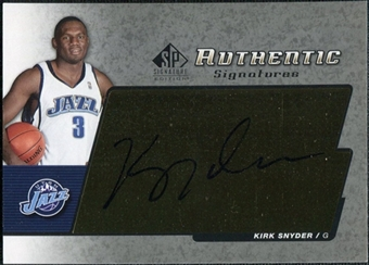 2004/05 Upper Deck SP Signature Edition Signatures #KS Kirk Snyder Autograph