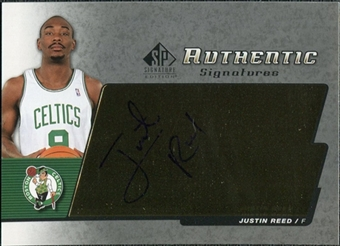 2004/05 Upper Deck SP Signature Edition Signatures #RE Justin Reed Autograph