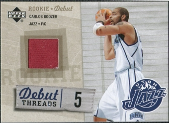 2005/06 Upper Deck Rookie Debut Threads #CB Carlos Boozer