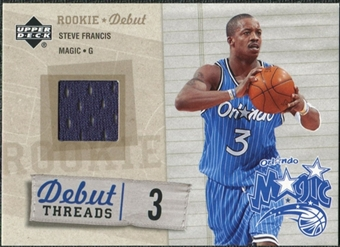2005/06 Upper Deck Rookie Debut Threads #SF Steve Francis