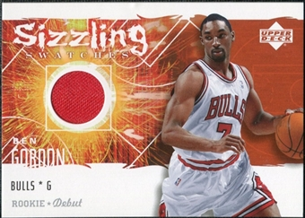 2005/06 Upper Deck Rookie Debut Sizzling Swatches #BG Ben Gordon