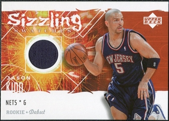 2005/06 Upper Deck Rookie Debut Sizzling Swatches #JK Jason Kidd