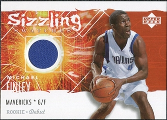 2005/06 Upper Deck Rookie Debut Sizzling Swatches #MF Michael Finley