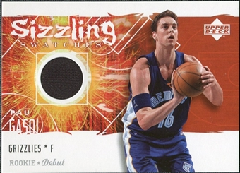 2005/06 Upper Deck Rookie Debut Sizzling Swatches #PG Pau Gasol