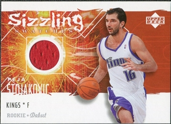 2005/06 Upper Deck Rookie Debut Sizzling Swatches #PS Peja Stojakovic