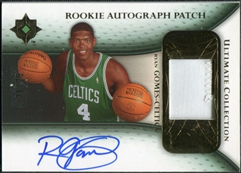 2005/06 Upper Deck Ultimate Collection Rookie Autographs Patches #RPRG Ryan Gomes Autograph /25
