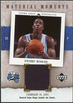 2005/06 Upper Deck UD Portraits Material Moments #DH Dwight Howard