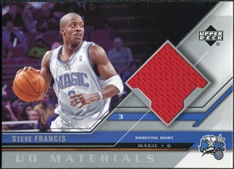 2005/06 Upper Deck UD Materials #SF Steve Francis
