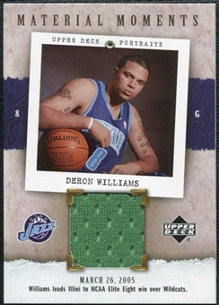 2005/06 Upper Deck UD Portraits Material Moments #DE Deron Williams