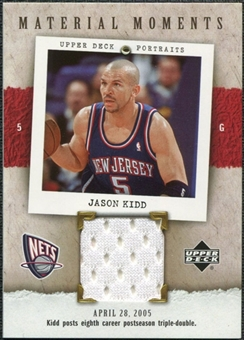 2005/06 Upper Deck UD Portraits Material Moments #JK Jason Kidd