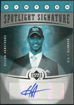 2006/07 Upper Deck Ovation Spotlight Signature #HA Hilton Armstrong Autograph