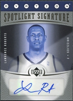 2006/07 Upper Deck Ovation Spotlight Signature #LR Lawrence Roberts Autograph