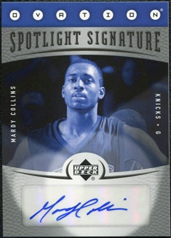 2006/07 Upper Deck Ovation Spotlight Signature #MC Mardy Collins Autograph