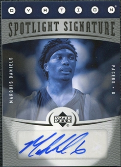 2006/07 Upper Deck Ovation Spotlight Signature #MD Marquis Daniels Autograph