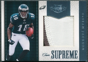 2011 Panini Plates and Patches Team Supreme Materials #30 DeSean Jackson /50