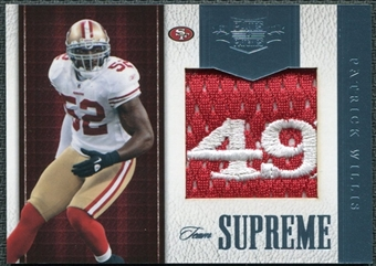 2011 Panini Plates and Patches Team Supreme Materials #35 Patrick Willis /18